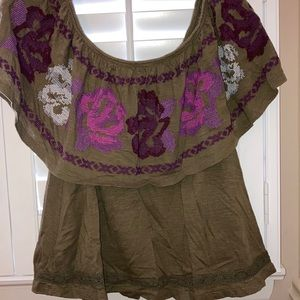 Free people off the shoulder blouse size small